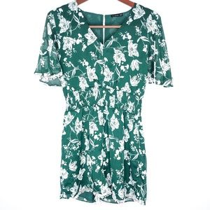 Cotton On Green Floral Romper